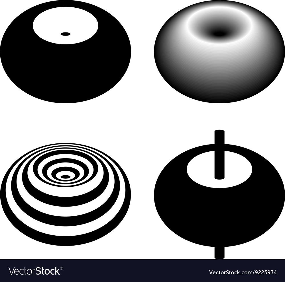 Magnetic Field Toroid Black Symbol Royalty Free Vector Image
