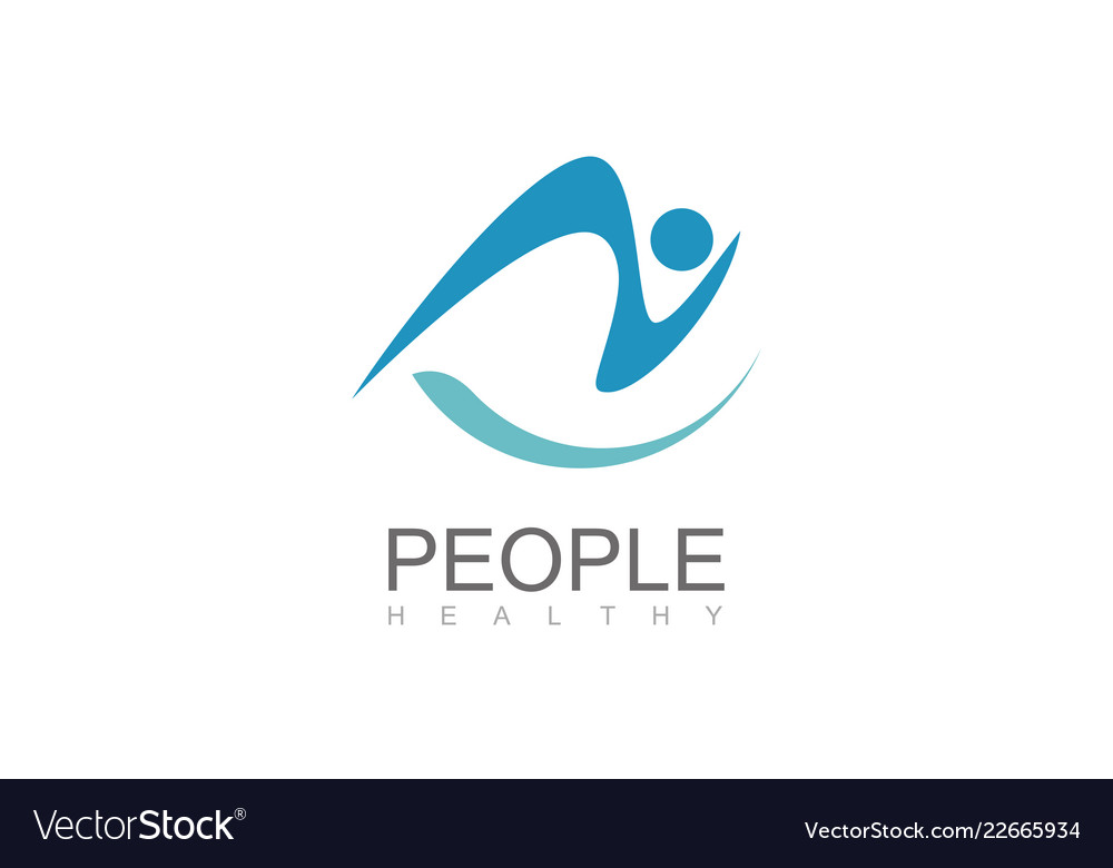 People healthy abstact logo