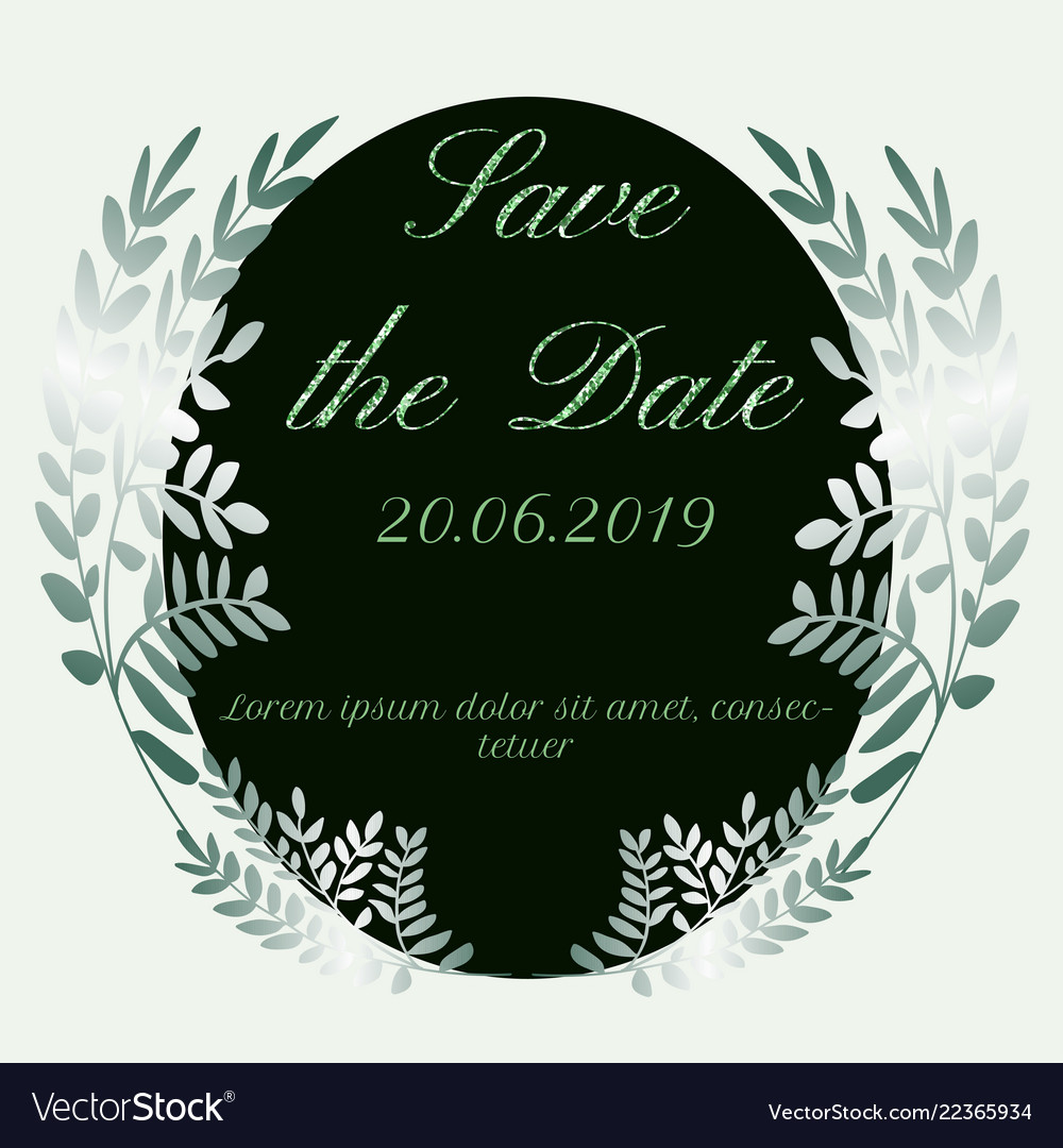 Save the date leaves design