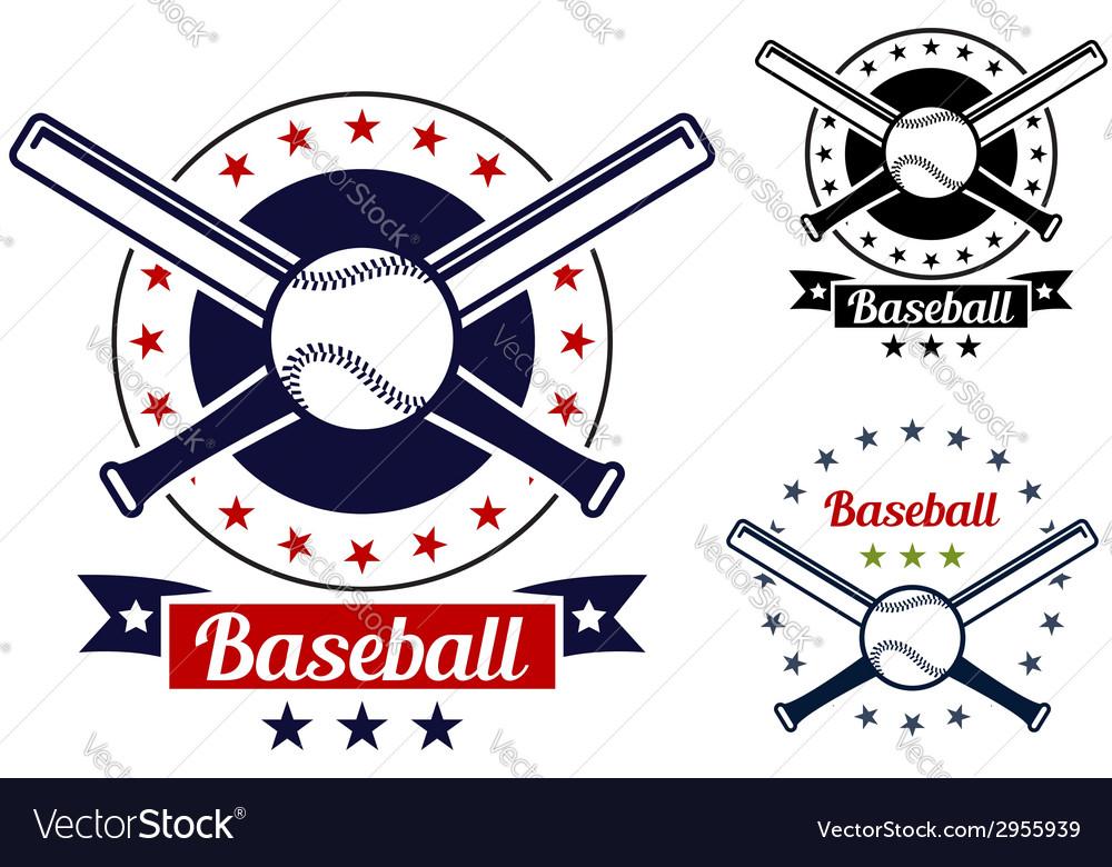 Baseball sport team badges
