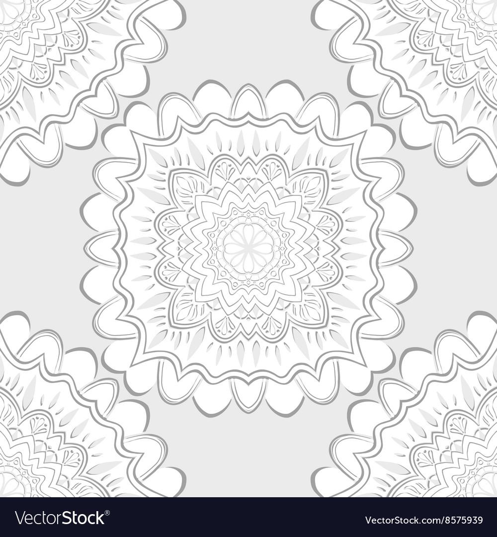 Decorative floral pattern vector image