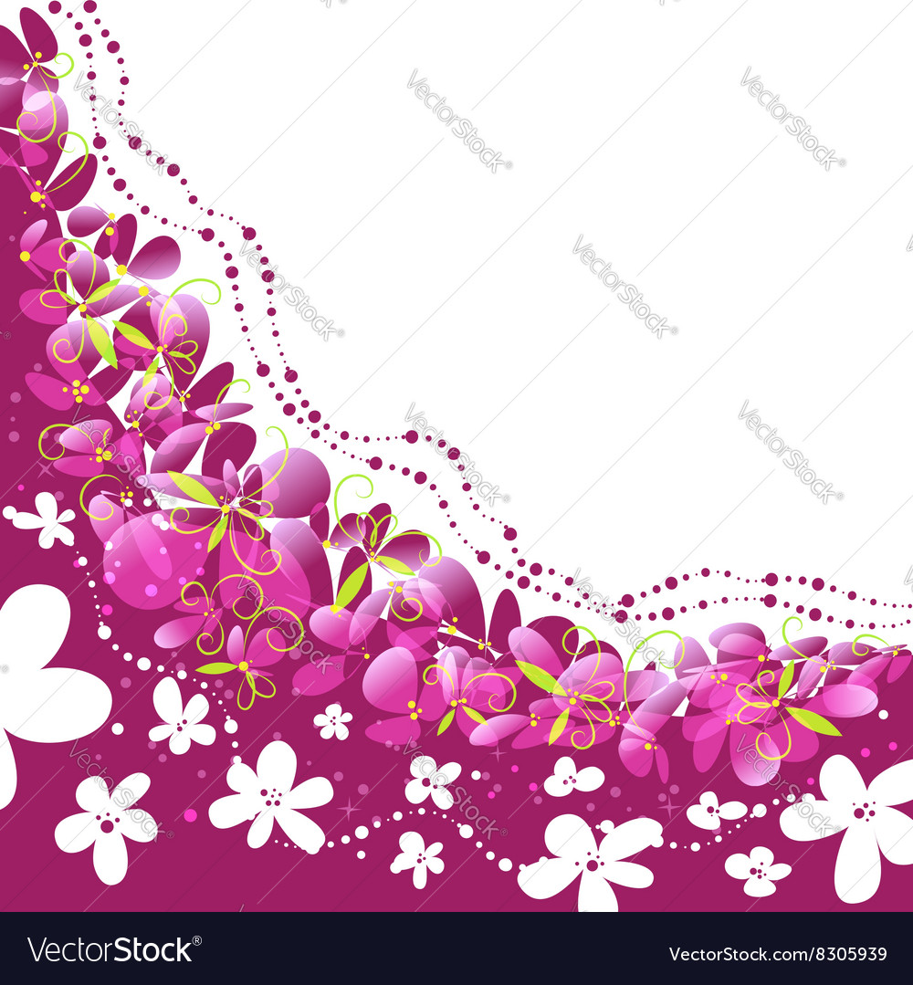 Floral background pattern with flowers