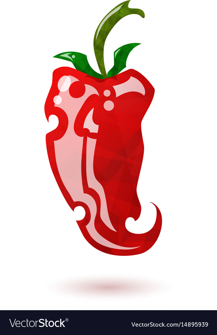 Glossy red pepper