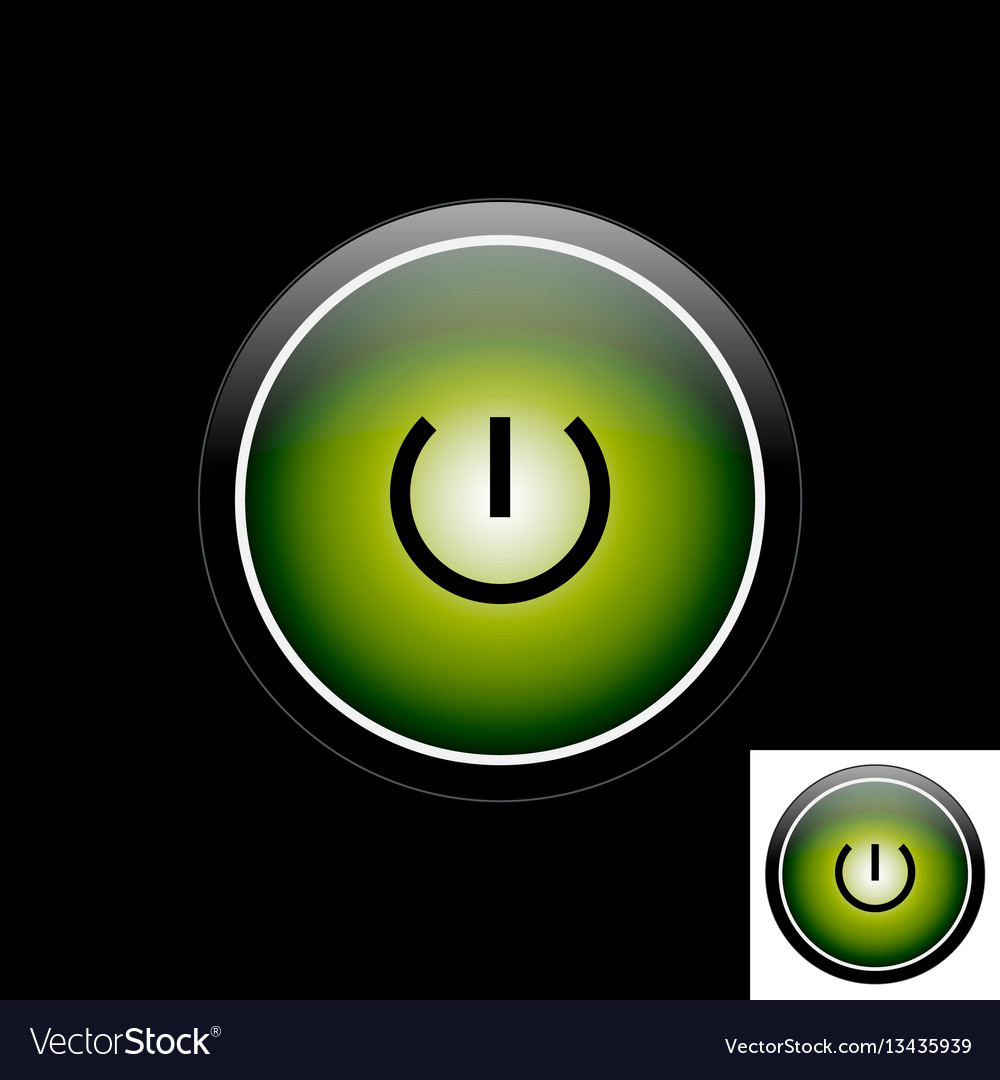 Green button power icon