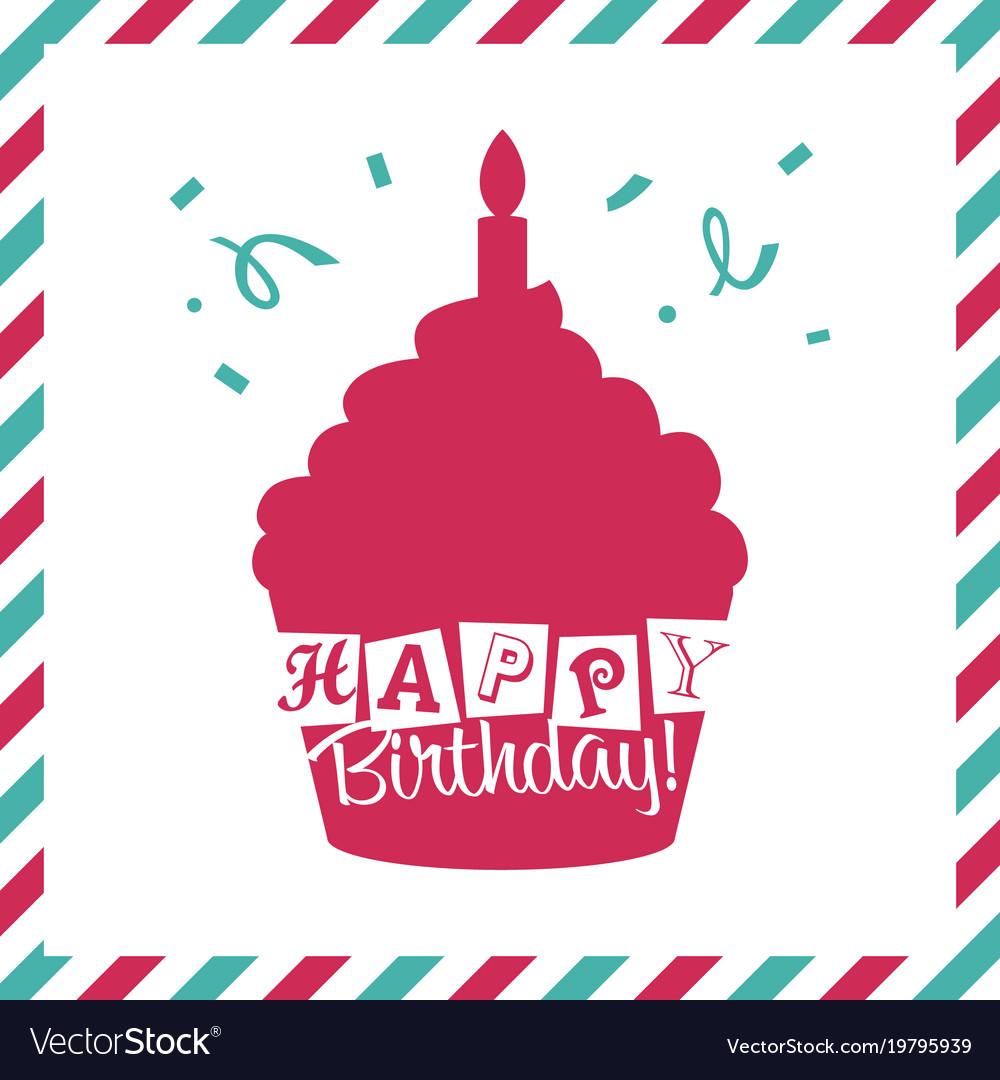 Happy birthday invitation greeting card Royalty Free Vector