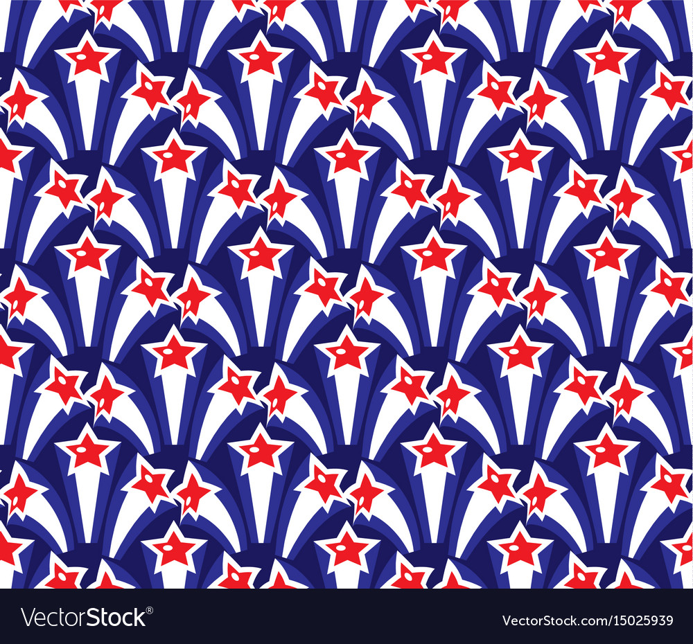 Independence day america seamless pattern july