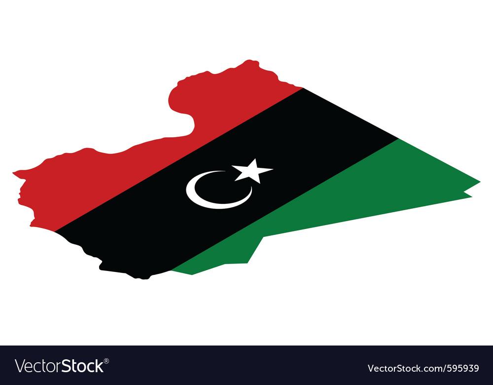 Map of libya vector image