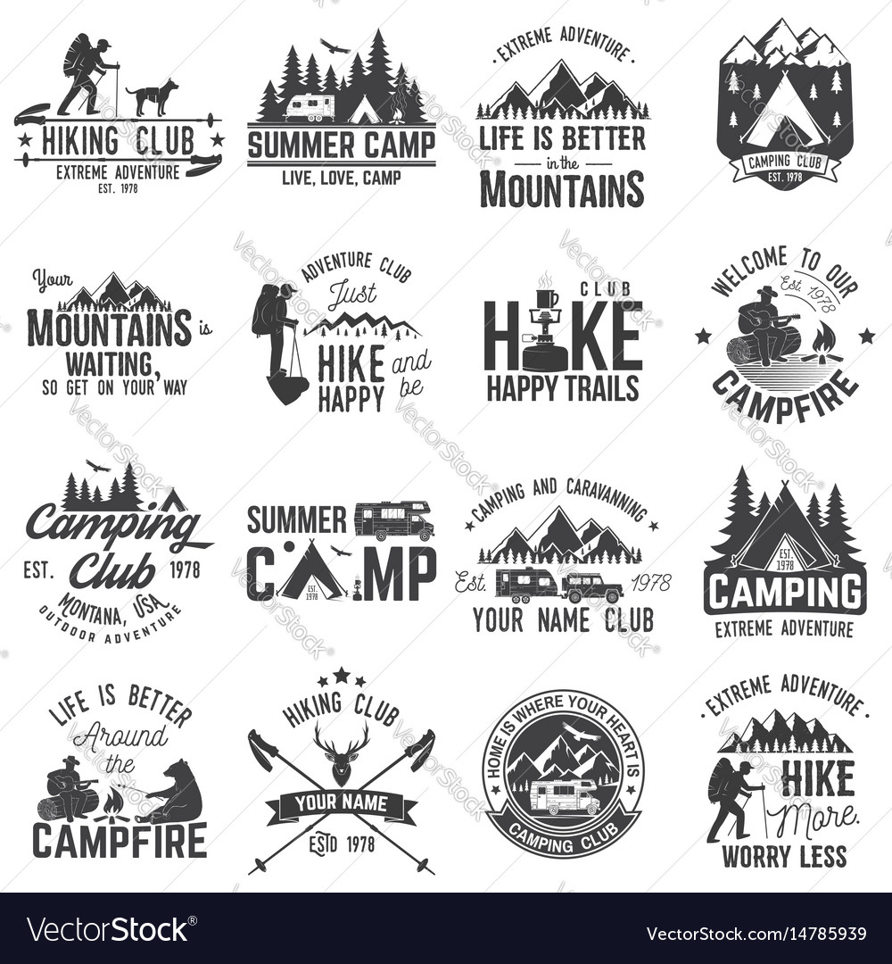 Set of extreme adventure badges concept for shirt