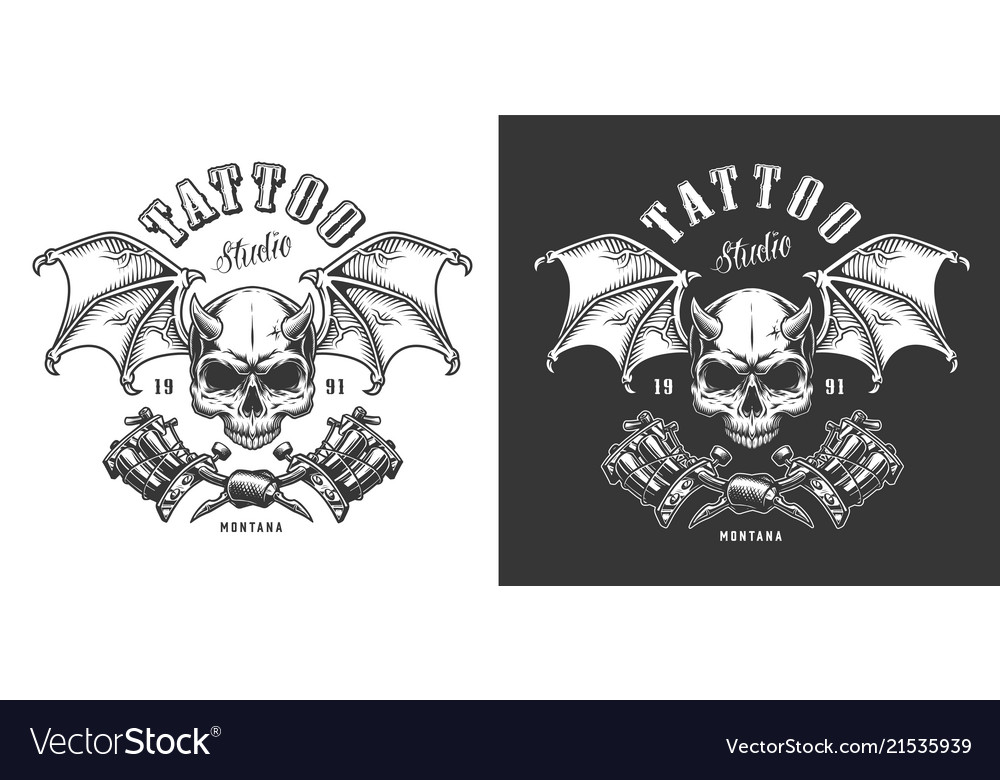 Tattoo saloon emblem