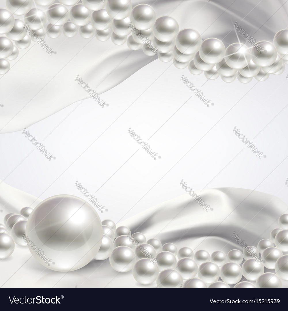 Wedding background with pearls