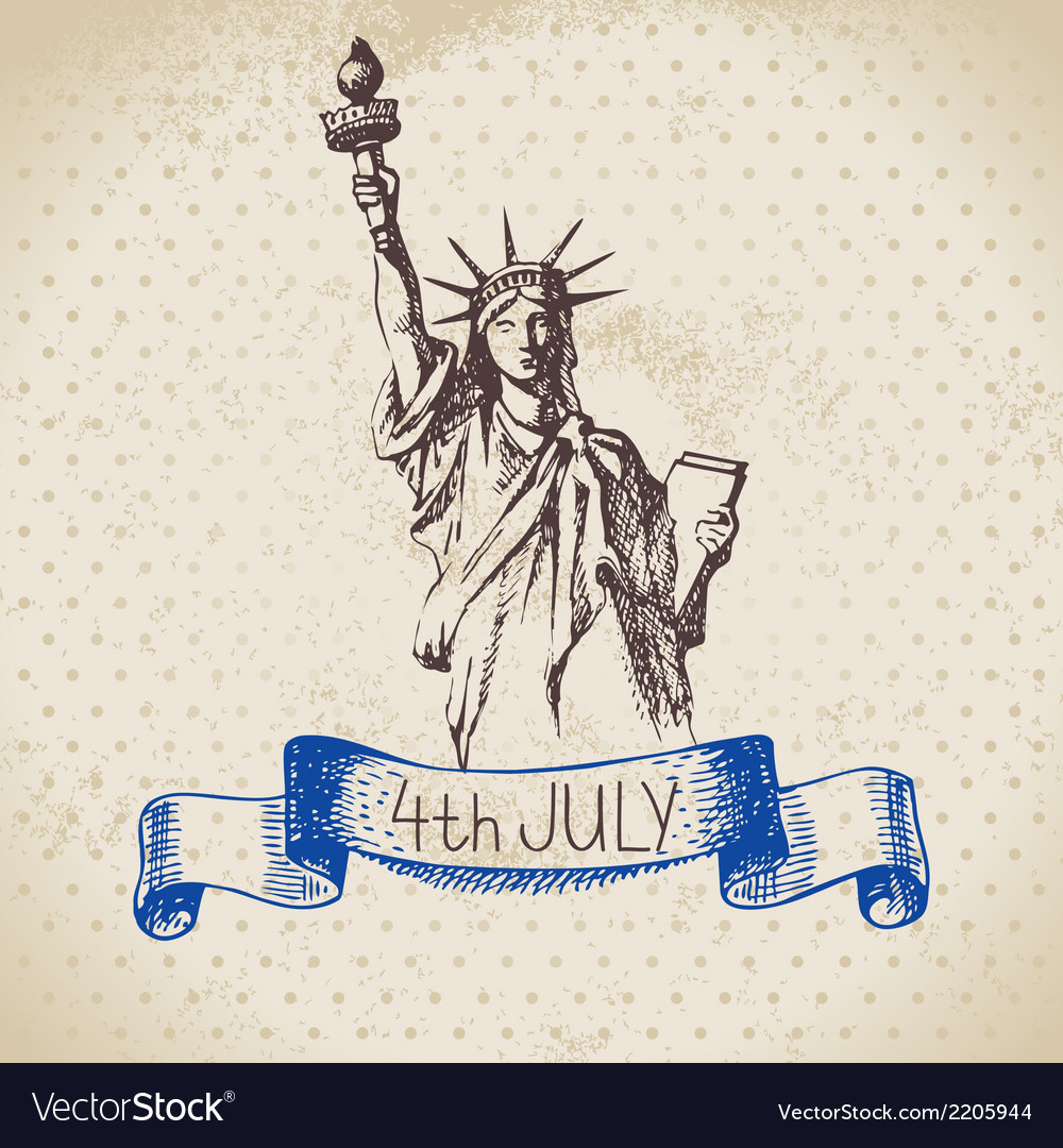 4th of July vintage background
