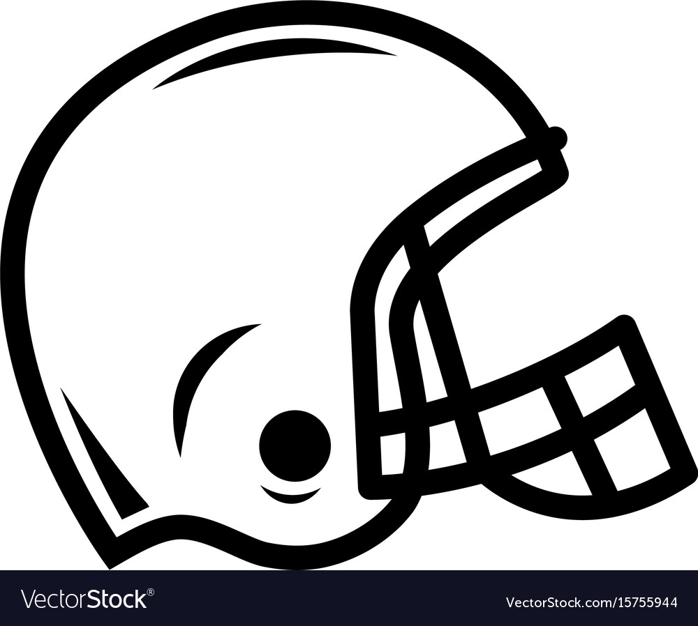american football helmet royalty free vector image rh vectorstock com football helmet outline vector football helmet vector icon
