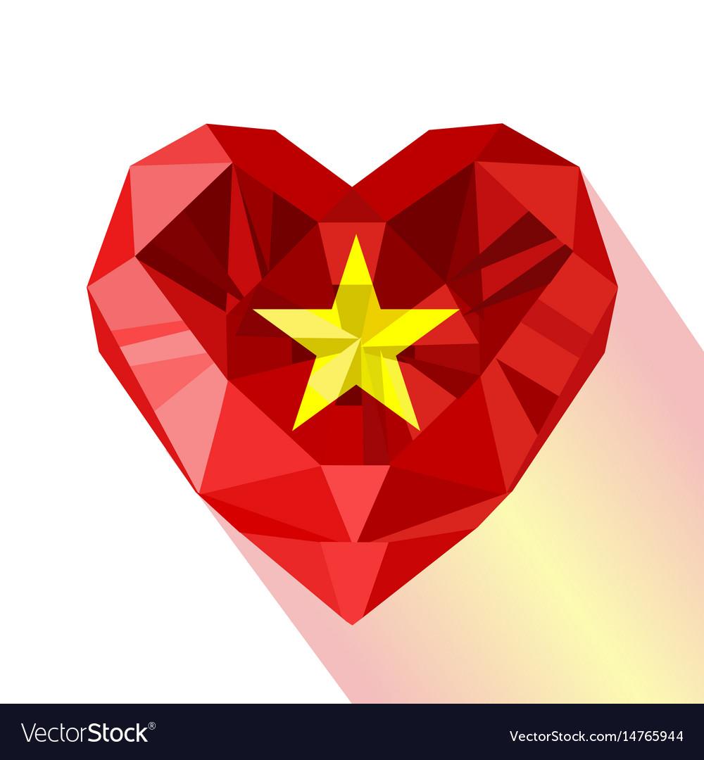 Flat Style Logo Symbol Of Love Vietnam Royalty Free Vector
