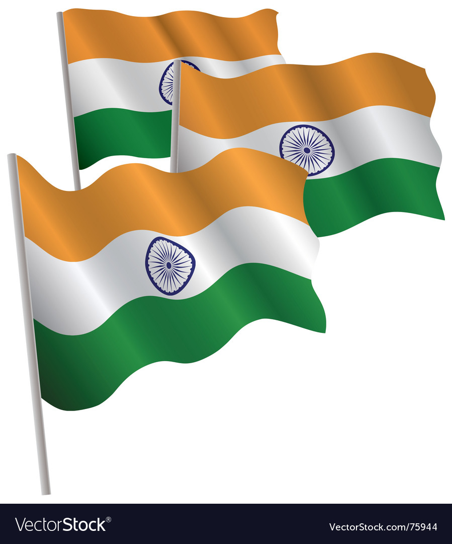 India 3d flag vector image