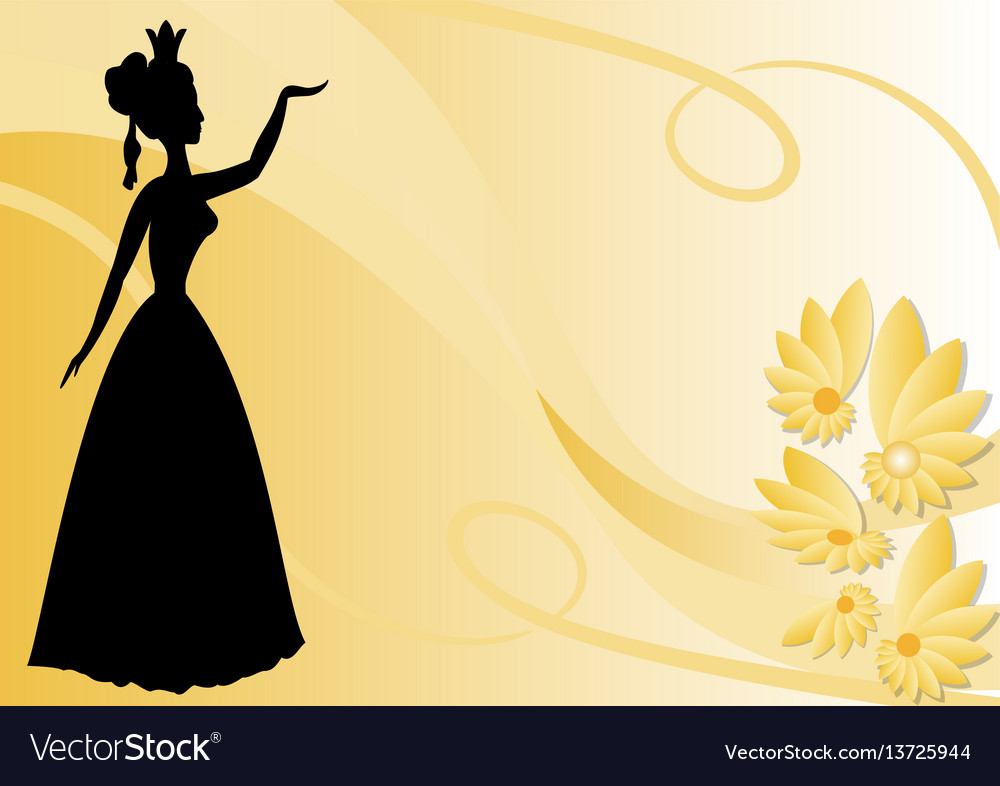 Leaflet background with black victorian lady