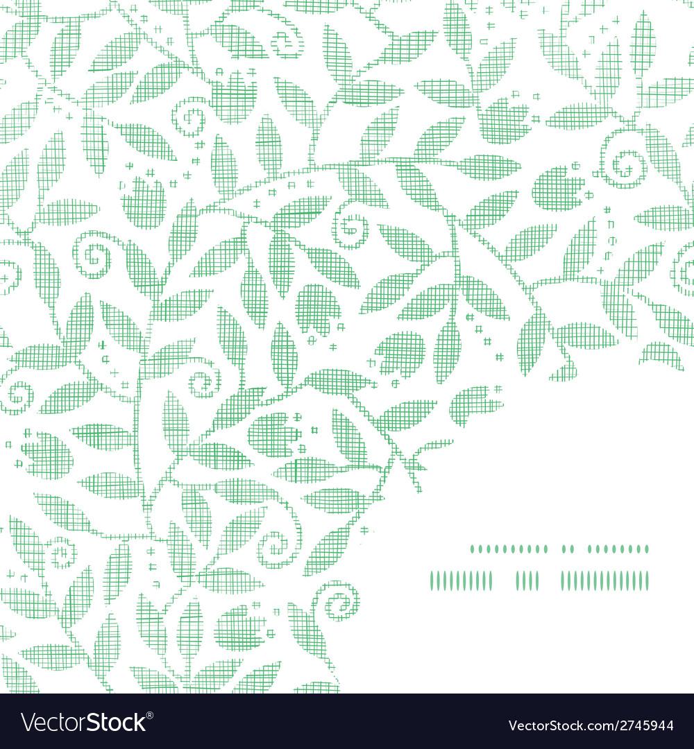 Leaves and swirls textile frame corner pattern