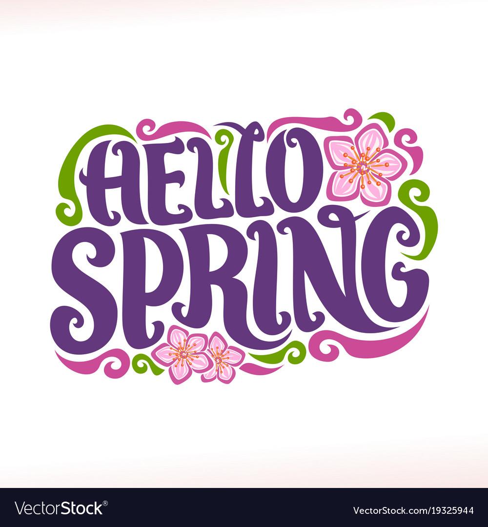 Poster for spring season