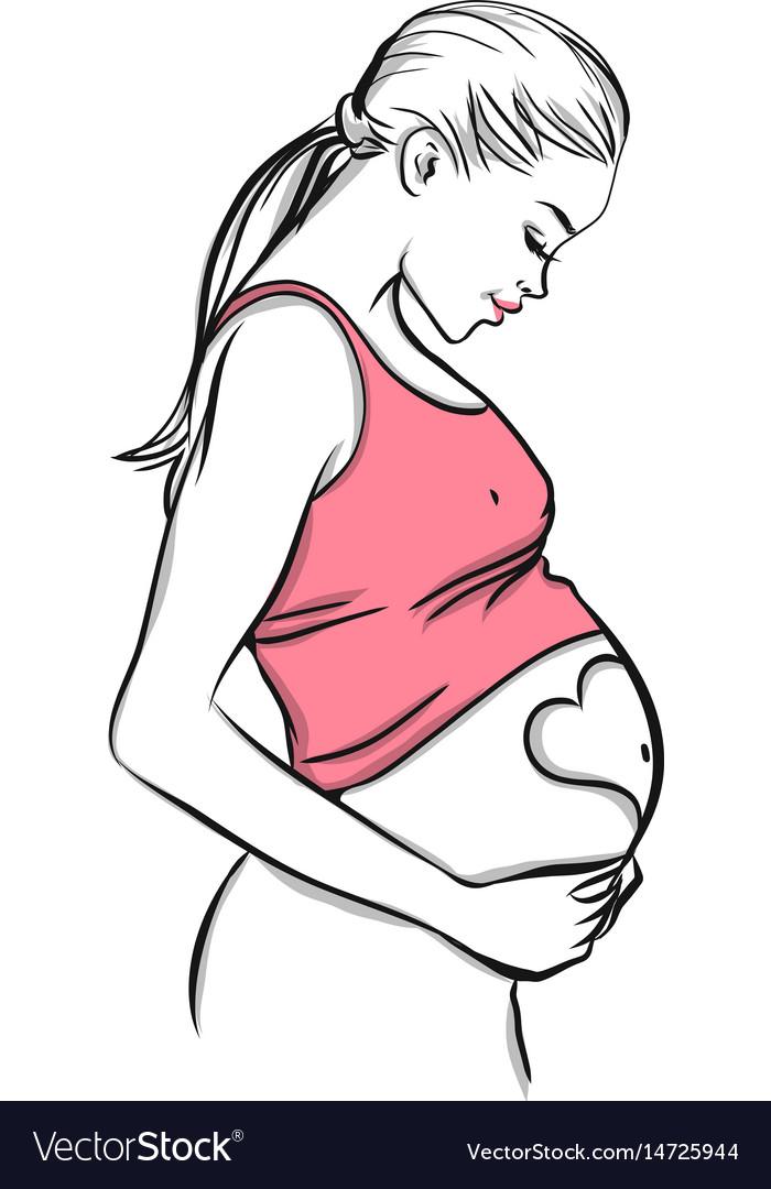 Pregnant woman symbol