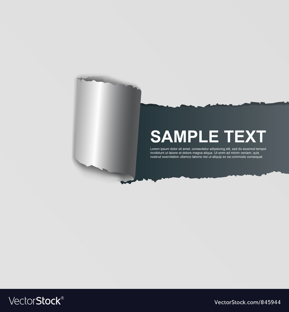 Ripped white paper on dark background
