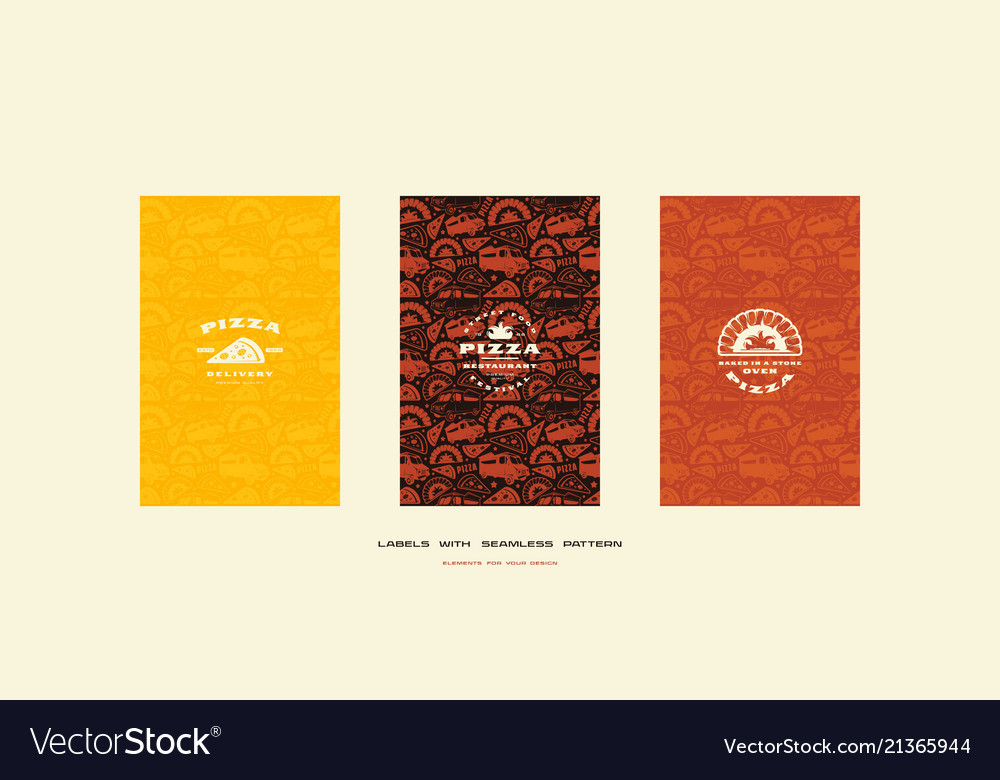 Set of menu cover and seamless pattern for