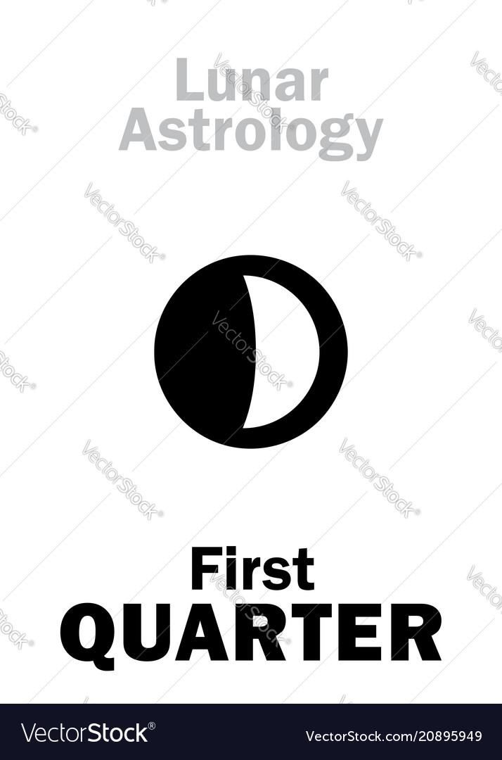 Astrology first quarter of moon