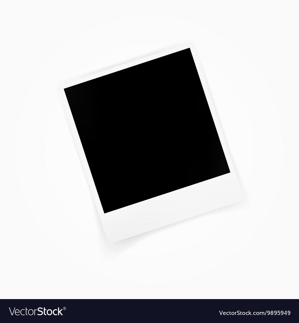 Blank photo polaroid frame isolated on white vector image