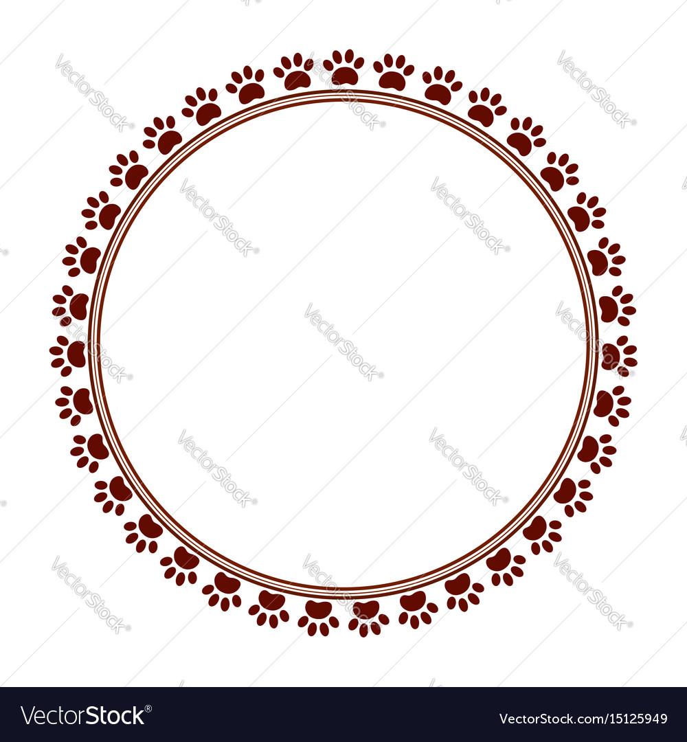 Paw prints frame vector image
