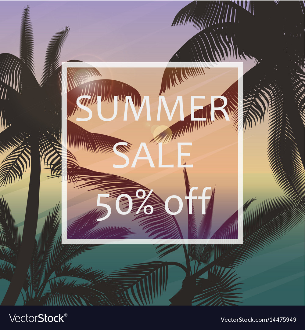 The summer sale poster in a frame on the