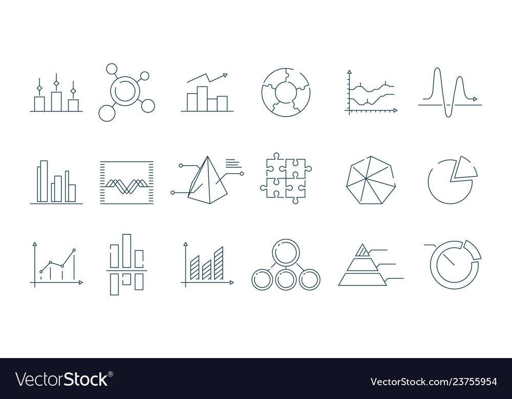 Business graph icon trending charts simple linear
