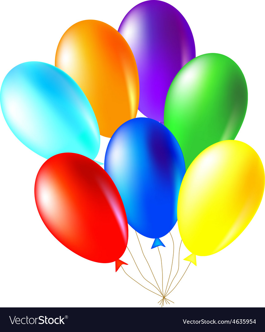 colored balloons royalty free vector image vectorstock