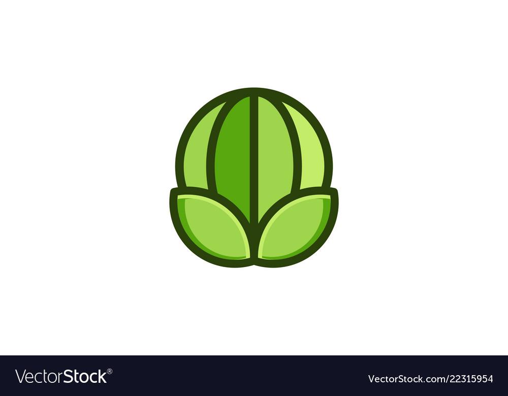 Green globe and leaf logo designs inspiration