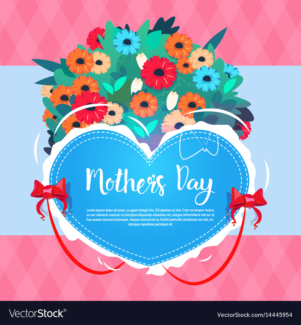 Happy mother day spring holiday greeting card vector image m4hsunfo