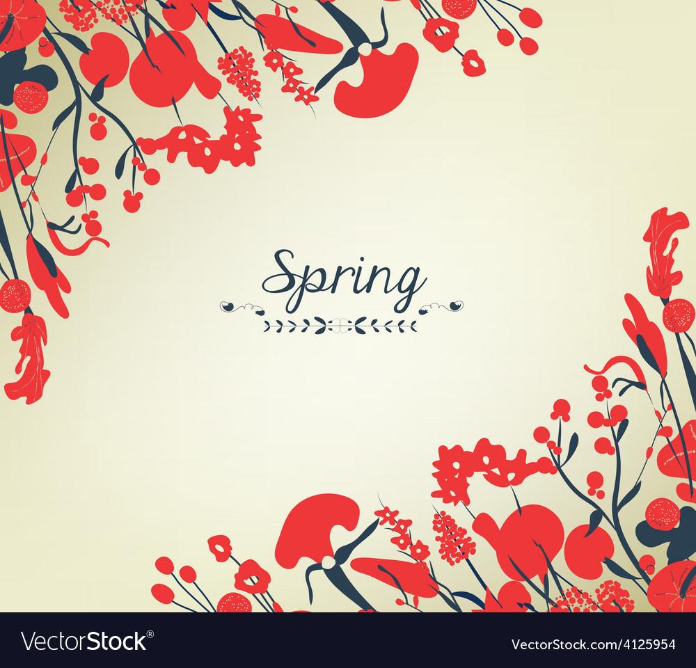 Happy Spring Flower Background Vintage Royalty Free Vector