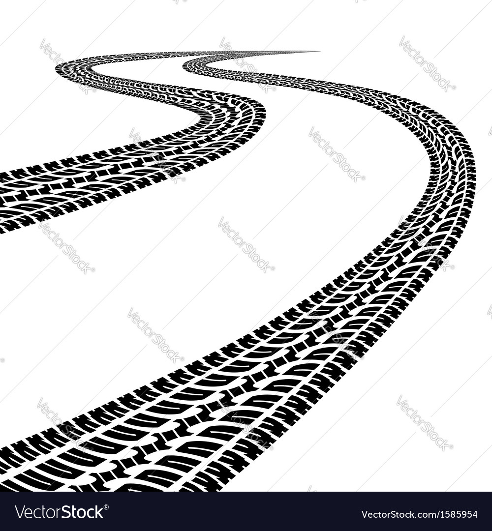 Road with traces vector image