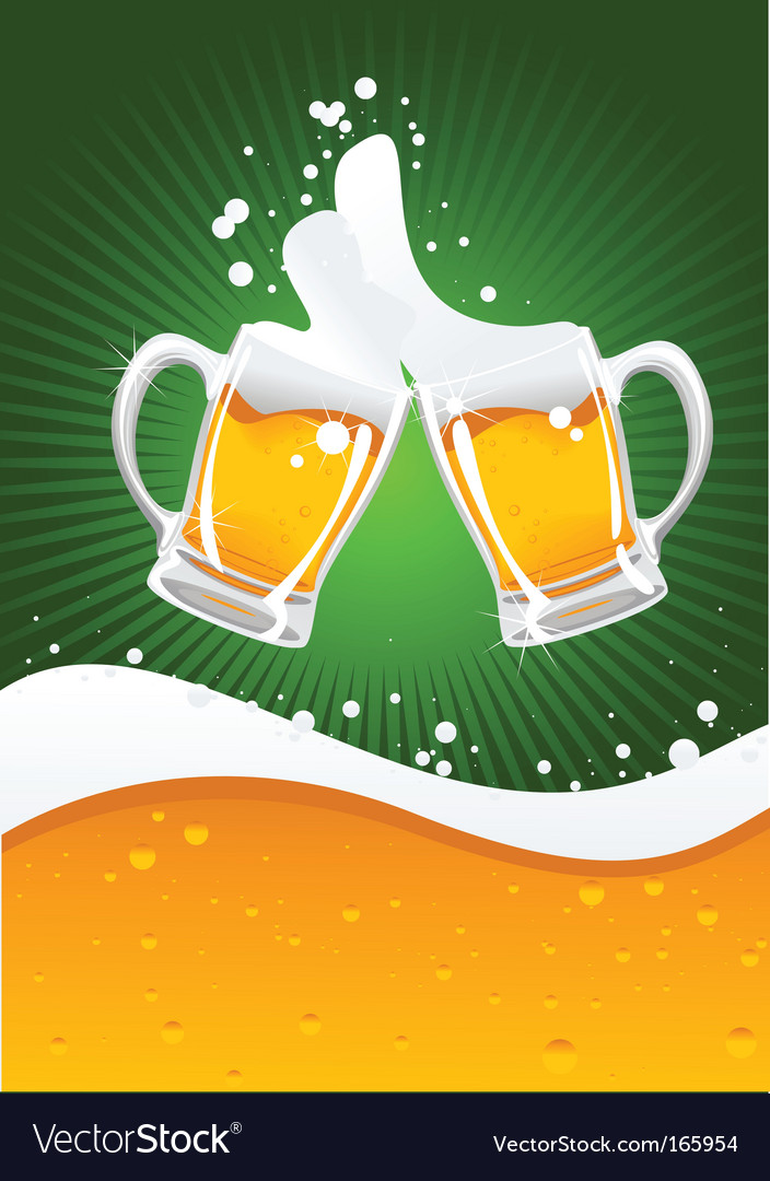 Two beer mugs vector image