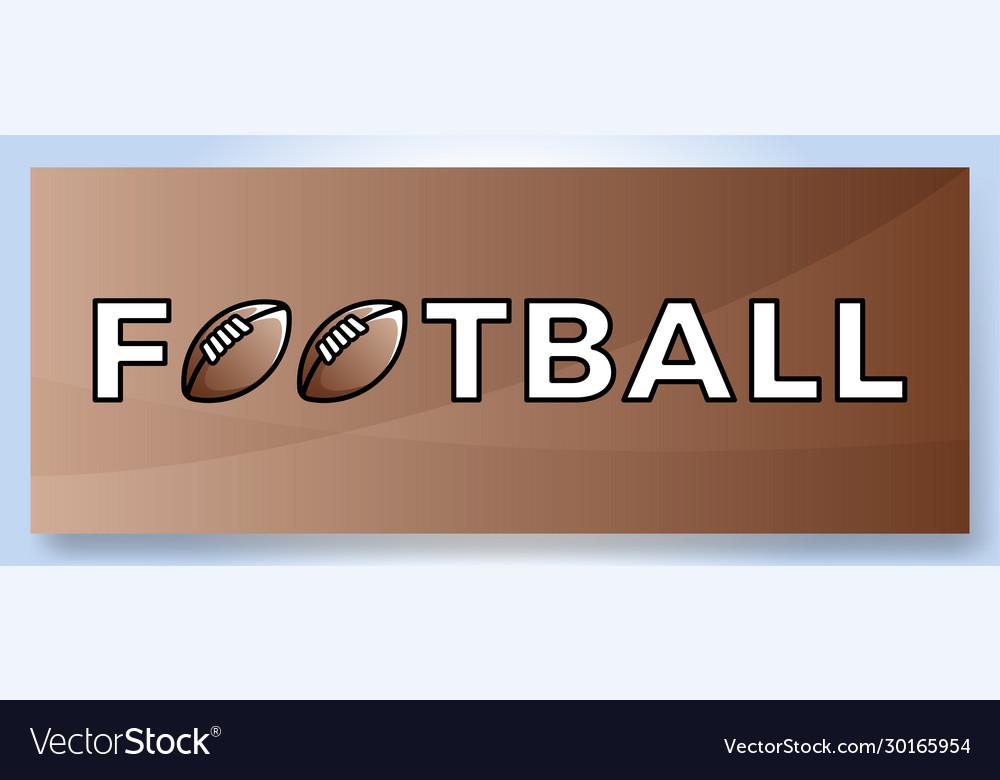 Typography word football logo sport logotype