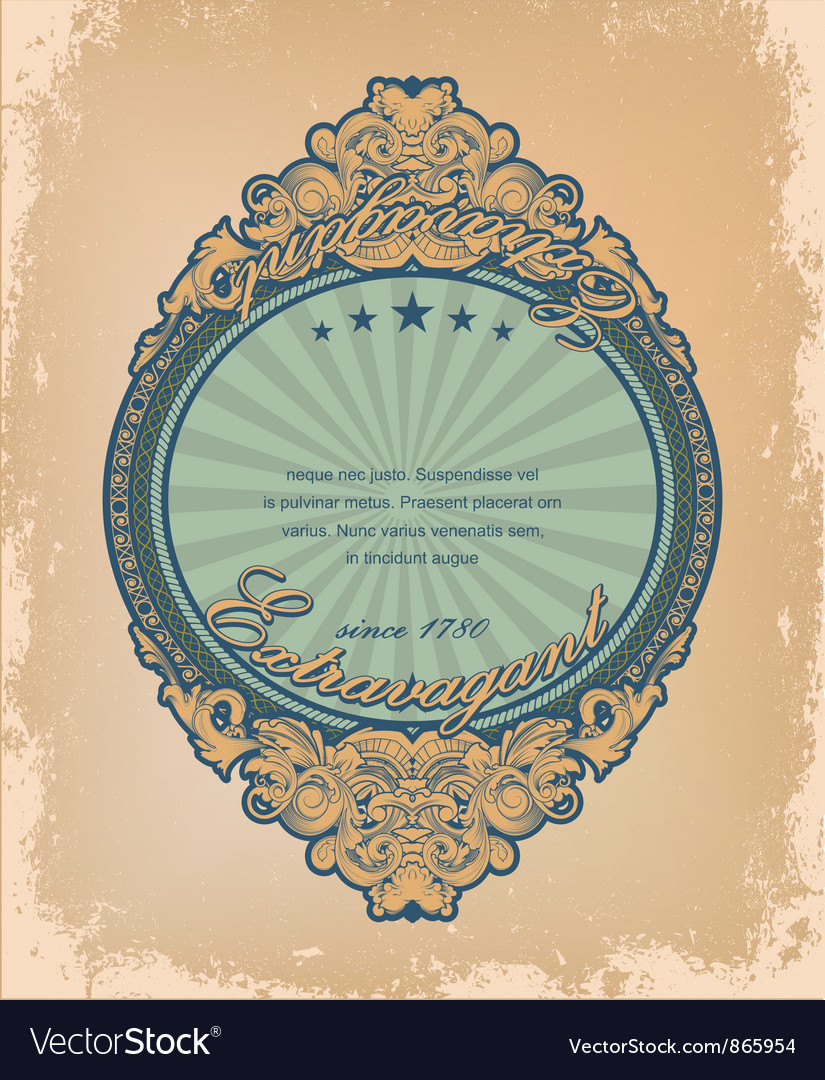Vintage label with grunge background vector image