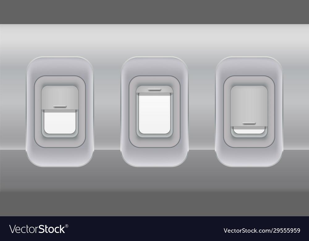 Airplane fuselage windows aircraft indoor
