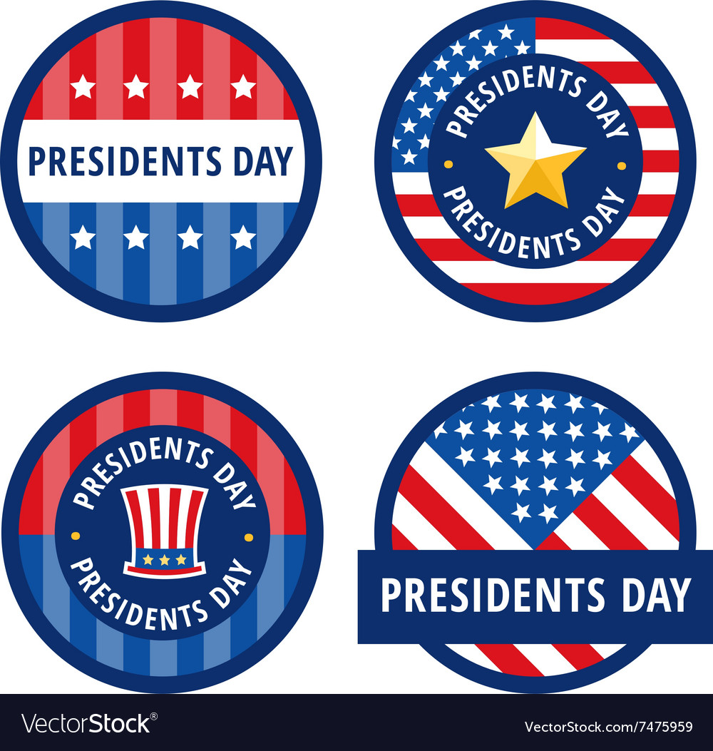 Badge greetings for Presidents day