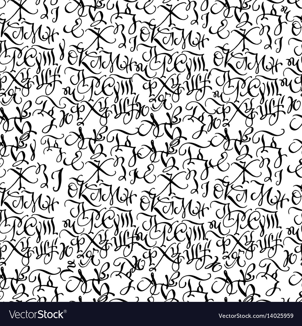 Black hand drawn high quality calligraphy pattern