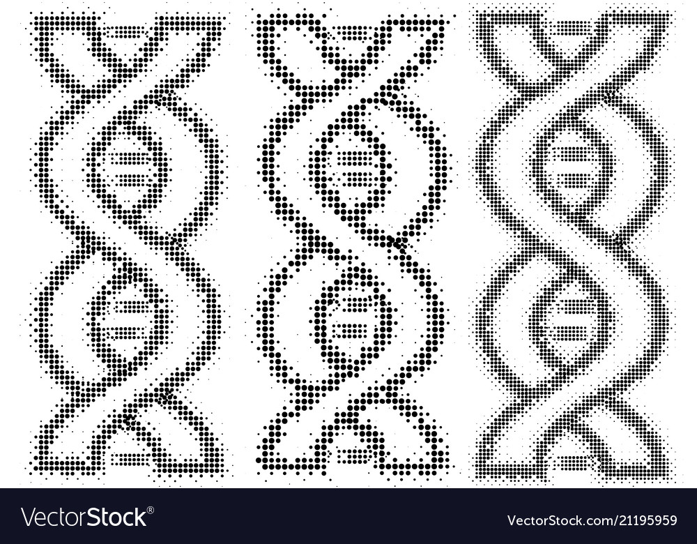 Dna concept in form dots