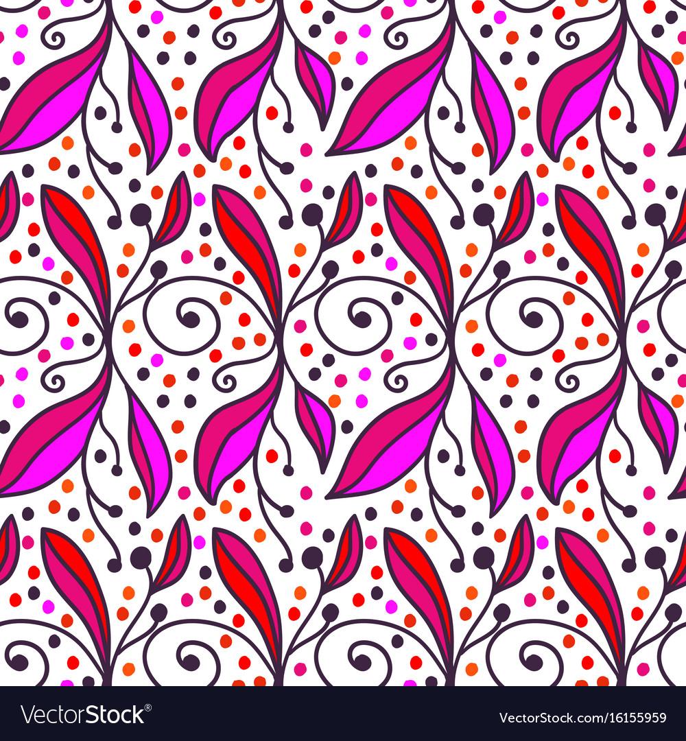 Ornamental doodle floral background seamless