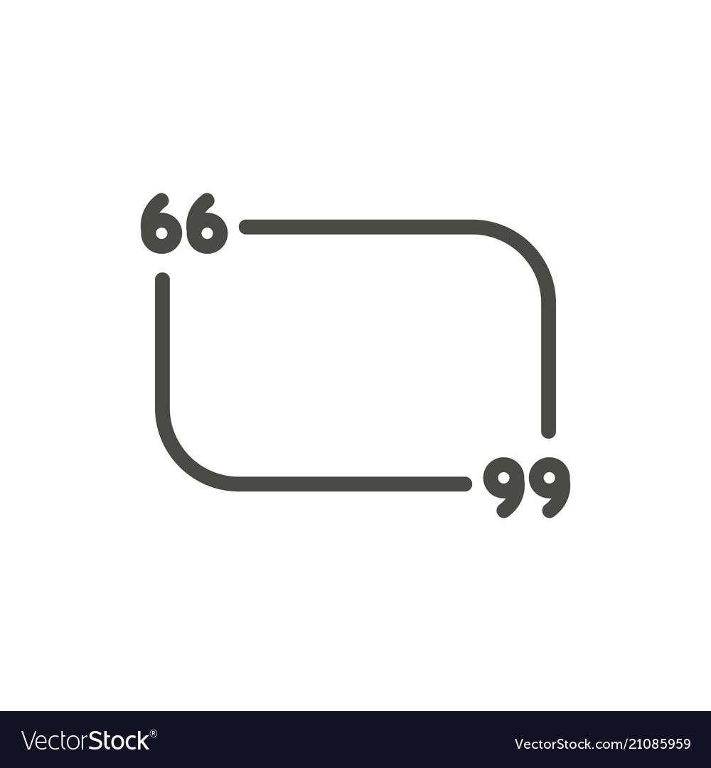 Quote icon line quotation symbol