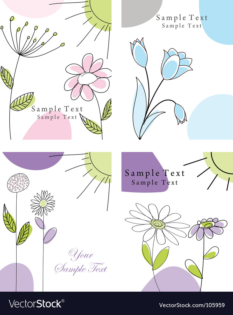 Set of greeting cards