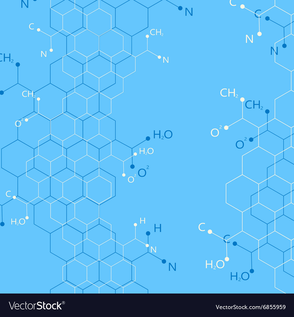 Structure molecule on blue background Graphic