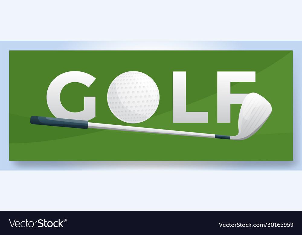 Typography word golf logo sport logotype