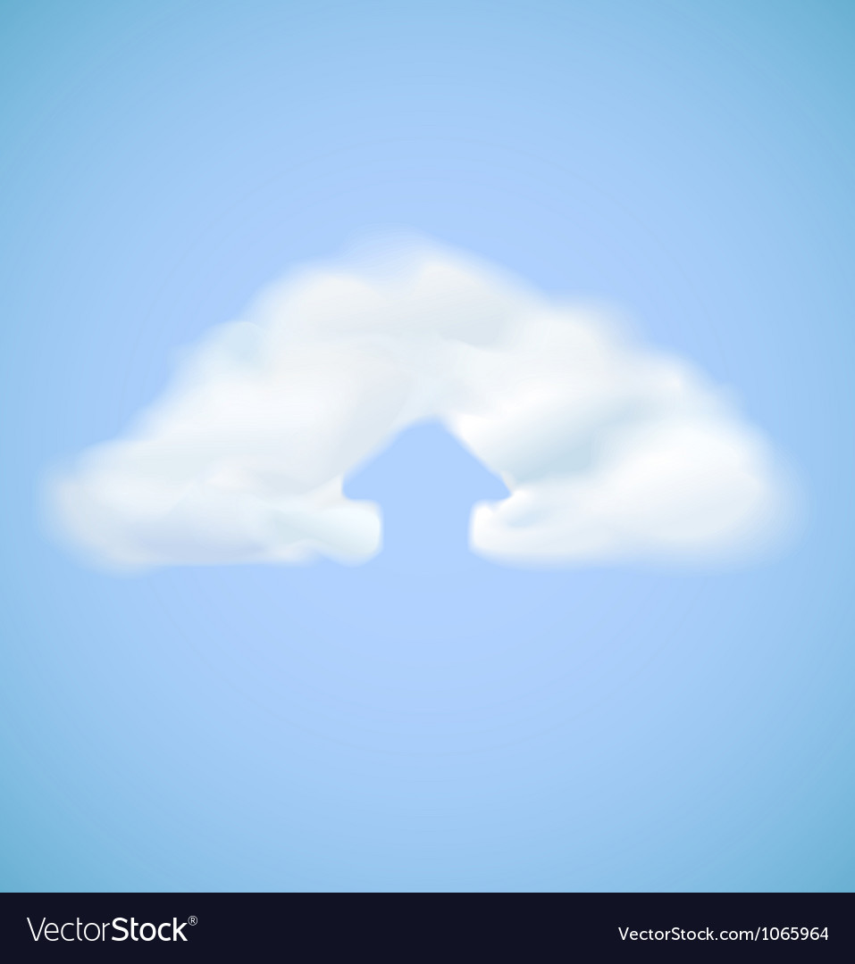 Cloud computing icon with arrow upload vector image
