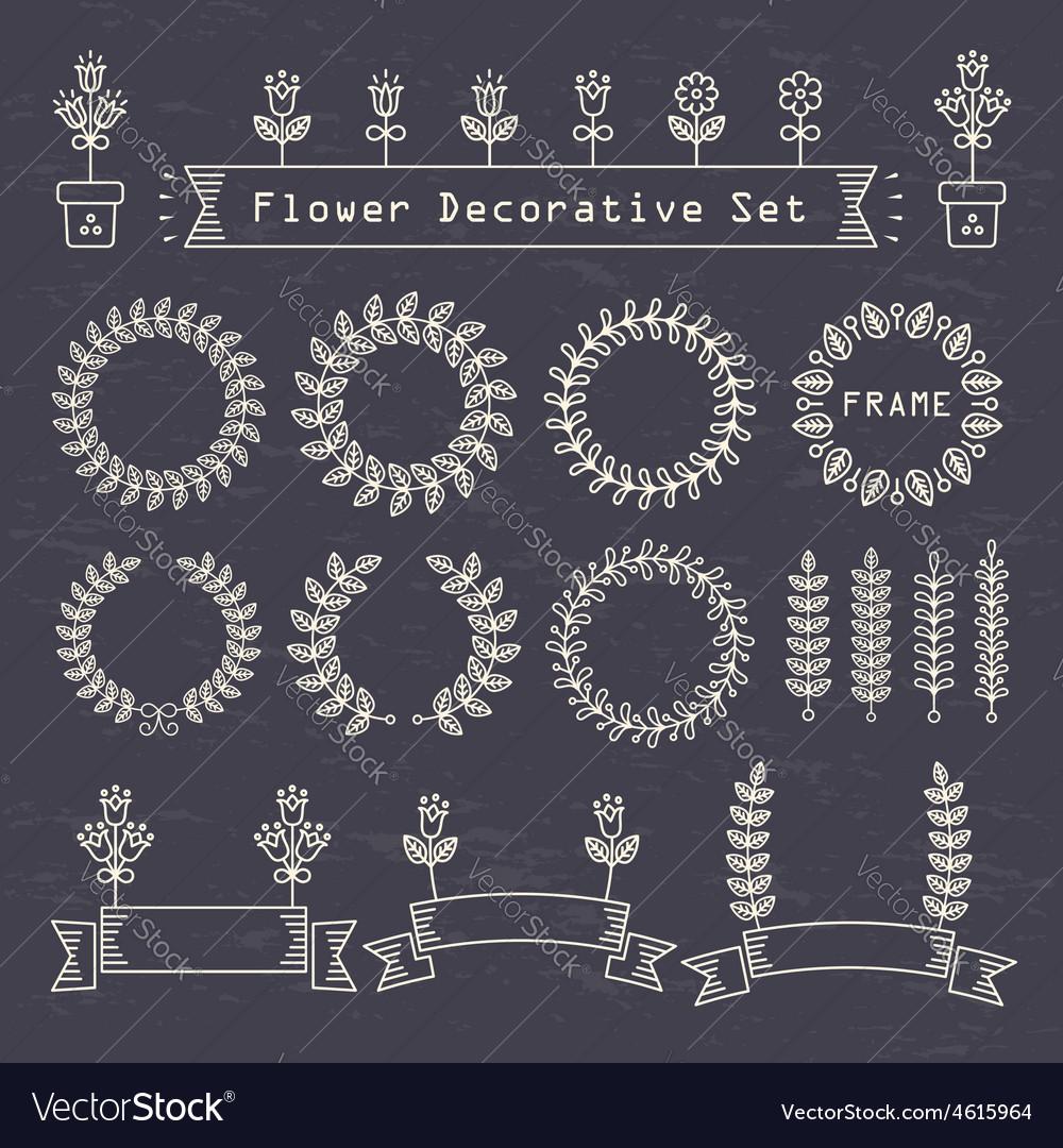 Flower decorative set