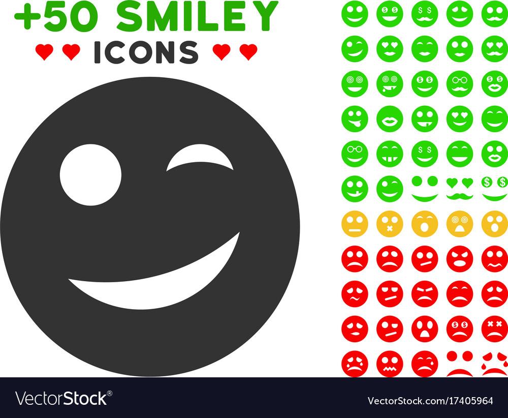 Joy smiley icon with bonus facial set