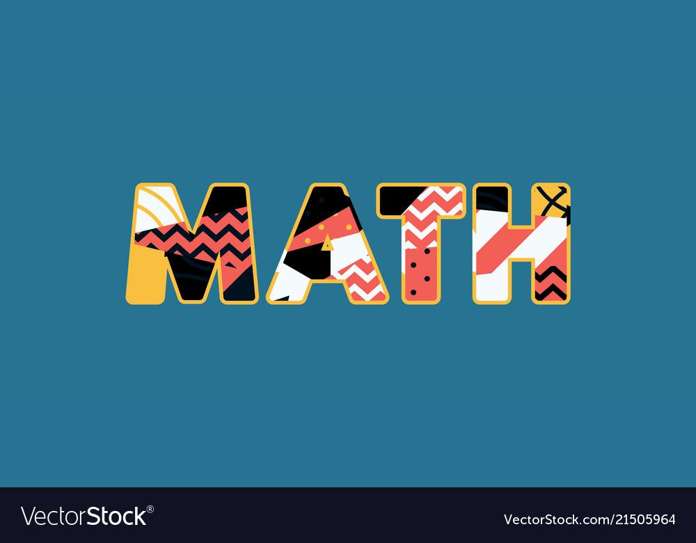 Math concept word art